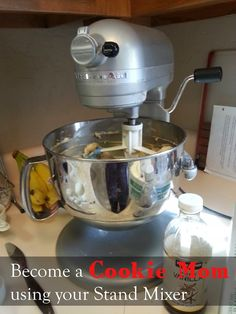 """Be a """"Cookie Mom"""" With Help from your Stand Mixer. The best tricks for making cookies when using your mixer. Kitchen Aid Recipes, Kitchen Aid Mixer, Kitchen Hacks, Kitchen Aide, Kitchen Tools, Kitchen Gadgets, No Bake Cookies, Cookies Et Biscuits, Cupcake Cookies"""