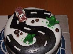 détail du gâteau Cars