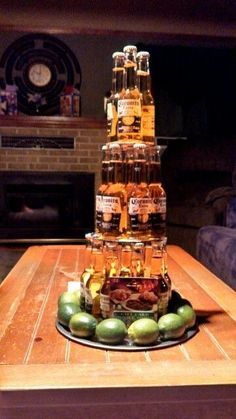 beer cake with limes instead of a usual one