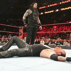 roman showing undertaker raw is his yard . #RomanReigns #RomanEmpire #Raw #RawIsRomansYard
