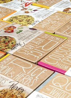 Pereg Gourmet Natural Foods - Quinoa-Rice-Couscous by Squat Design , via Behance