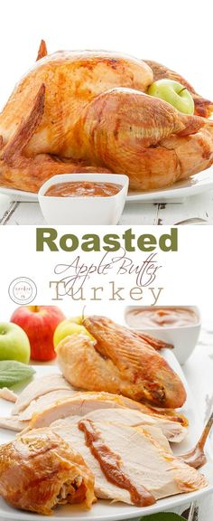 roasted apple butter turkey with turkey bacon scalloped potatoes
