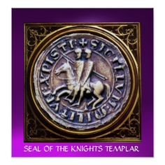 SEAL OF THE KNIGHTS TEMPLAR gem purple Posters