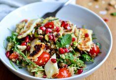 Quinoa Salad with Grilled Halloumi {healthinspirations.net}