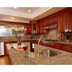 Stonemark Granite 3 in. Granite Countertop Sample in Giallo Fiorito-DT-G378 - The Home Depot