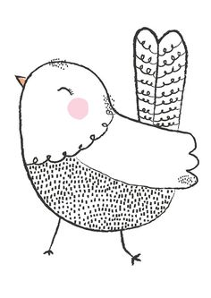 Little Birdy Illustration by ThisisGold on Etsy