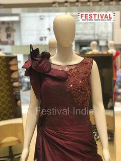 Evening  gowns only at FESTIVAL LALGATE SURAT   The House of Saree, Chaniya choli, Dress, Gown, Indo-western, Unstitch material etc. For Live Video shopping / whatsapp / FaceTime call  + 91 8469977360    #indianfashion #India ethnic #ethnicwear #desilook #lehengacholi #weddinglehenga #indianwear #zariv#reshamwork #sequin #partywear #lehengas #designerwear #festivalstyle #bridesmaids #bride #fashionblogger #styleblogger #instafashion #silk #festivalsurat  #festivalsurat#lalgate Choli Dress, Lehenga Choli, Saree, The Dress, Designer Wear, Festival Fashion, Indian Wear, Indian Fashion, Evening Gowns