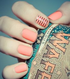 Tart Deco Nail Polish by Essie  Chic and modern, this dreamy coral is an artistic burst of color.
