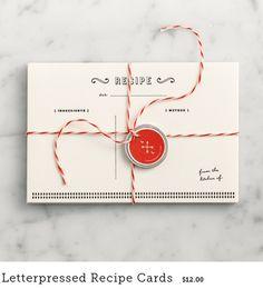 letterpressed recipe cards | Love & Lemons