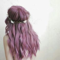 colored hair, dyed hair, flowers, girl, hairs, pink hair