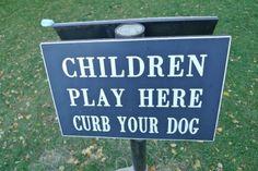 children play here