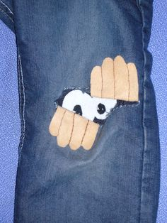 Cool idea for repairing hole in pants