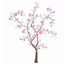 Spring Blossom Tree Giant Peel & Stick Applique