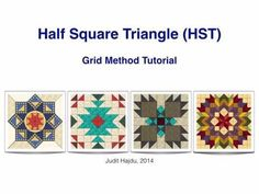 Looking for your next project? You're going to love Half Square Triangle - Animated Tutorial by designer Judit Hajdu. Quilt Block Patterns, Pattern Blocks, Quilt Blocks, Bed Quilt Sizes, Half Square Triangles, Squares, Quilt Tutorials, Video Tutorials, Sewing Tutorials
