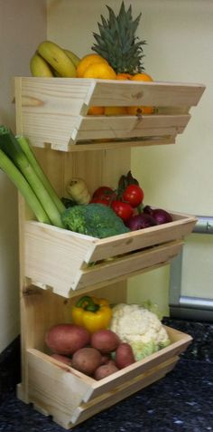Fruit and vegetable storage ideas - LittlePieceOfMe More