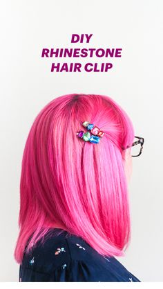 Cool Summer Fashions for Teens - DIY Rhinestone Hair Clips - Easy Sewing Project. Cool Summer Fashions for Teens – DIY Rhinestone Hair Clips – Easy Sewing Projects and No Sew Cr Kleidung Design, Diy Kleidung, Diy Ombre, Diy Hair Jewellery, Diy Jewelry, Jewelry Ideas, Jewlery, Diy Galaxie, Summer Fashion For Teens