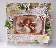 Stempelglede :: Design Team Blog. Rubber stamps used for this project: Vintage Christmas and Post Card from Paris stamp sets. 2014 © Jane Johnson