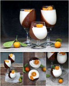 chocolate and orange panna cotta