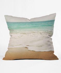Ombré Beach Throw Pillow