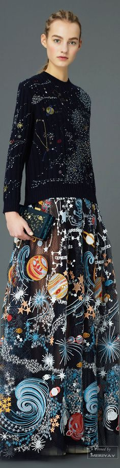 Valentino.Pre-Fall 2015. The heck with it - I'd wear this to the Oscars and make a BIG (and daring) celestial splash. :) Give them something to talk about for goodness' sake.