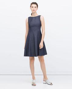 FLARED DENIM DRESS-View all-Dresses-WOMAN | ZARA United States