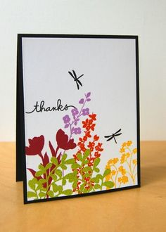 Thanks card by Katie Gehring -  Paper Smooches - Botanicals 1 and Botanicals 2, Scripty Sayings