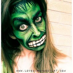 Hulk face using Regular Tag Green, @nyxcosmetics primal eyeshadow in Hot Black, Global colours black face paint, Superstar Skin colours palette just to name a few! A video coming soon on You Tube. #hulk #halloween #costumes #green #hulkcostumes #mua #facepainting #globalcoloursbodyart #nyxcosmetics @nyxaustralia #adelaide #adelaidefacepainting