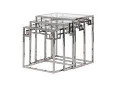 Coach House Nest 3 Tables with Glass £560.50