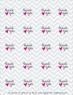 Free Printable: Thank You Favor Tags or Stickers | Hey Love Designs