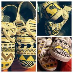 DIY Painted Keds. Wichita State colors.