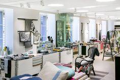 Lapuan Kankurit Store & Studio opened in January Katariinankatu Helsinki Helsinki, Brick Wall, January, Interior Design, Studio, Store, Google, Furniture, Home Decor