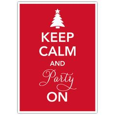 Keep Calm Red Christmas Invitations