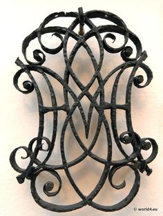 Antique wrought iron ornament, monogram. England in the 1700 century