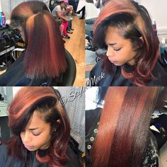 I have never been more in love with a hair color than I am at this moment. Love Hair, Gorgeous Hair, Curly Hair Styles, Natural Hair Styles, Dope Hairstyles, Simple Hairstyles, Hairstyles 2018, Dyed Natural Hair, Hair Laid