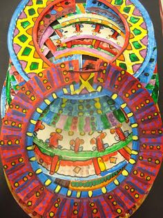 Once upon an Art Room: African Art----> What a fun art project for kids!!! Love it!