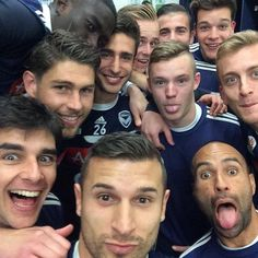 Melbourne Victory selfie uploaded by Kosta Barbarouses Melbourne Victory Fc, Lawrence Thomas, Australian Football, Melbourne Australia, One Team, Best Relationship, Football Soccer, Victorious, Love