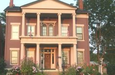 This is where we worked as innkeepers. Annie Wiggins Guest House in Galena, IL. Probably the best time in my life! It's a wonderful B! Galena Illinois, Historic Homes, Victorian Homes, Bed And Breakfast, Lodges, Vacation Spots, Day Trips, Annie, Bedding