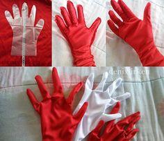 White Clown Police Ghost Magician Christmas Santa Father Xmas Gloves