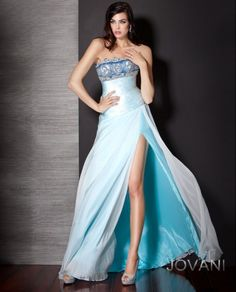 Beaded Chiffon Gown Front, Style 157732