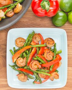 Under 300-Calorie Honey Lime Shrimp