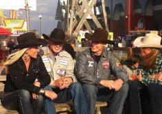 Shada Brazile, Clif Cooper and Tuf Cooper. Rodeo is a family sport!!