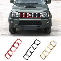 Find More Chromium Styling Information about New Products for 5 PCS Red/Black ABS Grille Insert Grill Cover Trim Exterior Accessories Decoration for Suzuki Jimny 2 Colors,High Quality decor time products,China product Suppliers, Cheap decorative plaster products from Mopai Auto Accessories on Aliexpress.com