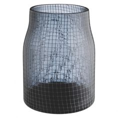 NETA Grey glass vase with mesh pattern (€42) ❤ liked on Polyvore featuring home, home decor, vases, grey home decor, gray vase, gray home decor, contemporary glass vase and grey vase