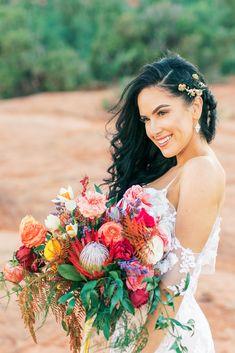 Vienna Glenn Photography, Bloom and Blueprint, rainbow bouquet, Sedona Wedding, Adventurous Wedding Boho Wedding Bouquet, Bride Bouquets, Sedona Wedding, Arizona Wedding, Rainbow Bouquet, Big Day, Flower Power, Wedding Inspiration, Bloom