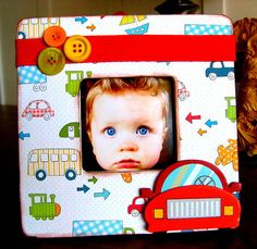 Trains Boats and Cars Wooden Picture Frame Boys Room by WeeBits2, $15.95
