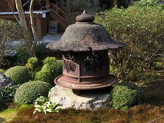 Iron Japanese Temple Lantern   Jakkoin Temple - Kyoto, Japan