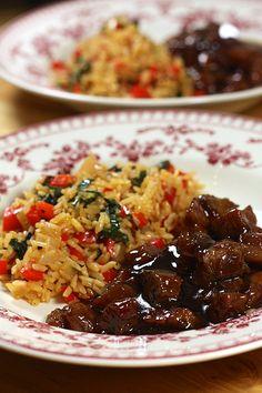 Porc au sucre & riz sauté asie se pates 1 recettes viandes