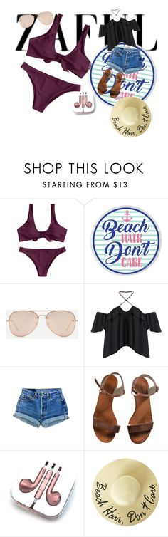 """Beach day"" by desdall on Polyvore featuring CHARLES & KEITH, Emporio Armani and PhunkeeTree"