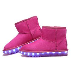 72a3334c8549 VMATE LED Light Up Boots Boys Girls Fur Covered Lined Waterproof Winter  Warm Snow Boots USB Charge   More info could be found at the image url.