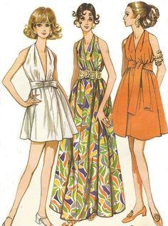 1960s Womens Goddess Dress Mini or Maxi McCalls by CloesCloset